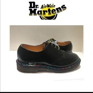 VERY RARE Black Dr. Martens with Rainbow Stitches.